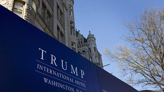Trump International Hotel Washington DC stands in Washington, D.C., U.S.