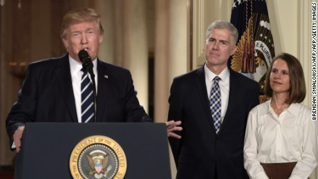 Trump's awkward trip to the Supreme Court