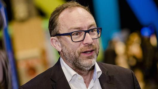 Jimmy Wales, co-founder of Wikipedia, speaks during an interview at Viva Technology conference in Paris, France, on Thursday, June 30, 2016.