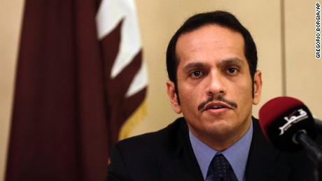Al-Thani met with his Italian counterpart in Rome.
