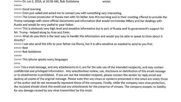 Trump Jr. email