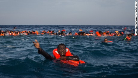 Hundreds of refugees and migrants have died this year trying to reach Europe and many thousands have been rescued.