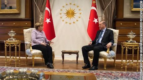 Merkel condemns Nazi insult from Turkey's President Erdogan