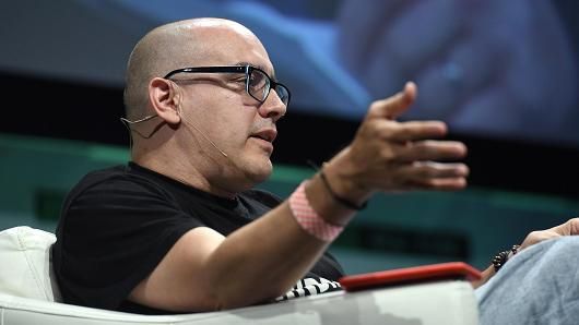 Founder and Partner at 500 Startups, Dave McClure speaks onstage during TechCrunch Disrupt NY 2015. McClure resigned from 500 Startups after a New York Times report said he sent inappropriate messages to a female entrepreneur.