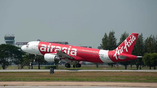 An AirAsia plane takes off at Don Mueang International Airport on January 15, 2017 in Bangkok, Thailand.