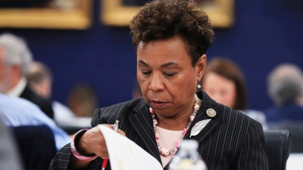 Rep. Barbara Lee, D-Calif., a member of the House Appropriations Committee reads documents during a markup hearing on FY2018 State and Foreign Operations Appropriations Bill, FY2018 Labor, Health and Human Services, and Education Appropriations Bill; and Interim Suballocation of Budget Allocations for FY2018, Wednesday, July 19, 2017, on Capitol Hill in Washington. (AP Photo/Manuel Balce Ceneta)