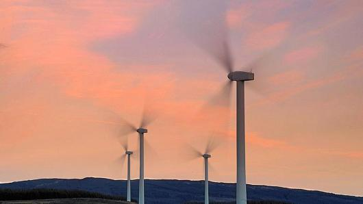 A wind farm in, Kintyre, Argyll, Scotland.