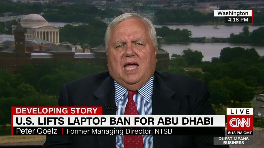 U.S. lifts laptop ban for Abu Dhabi