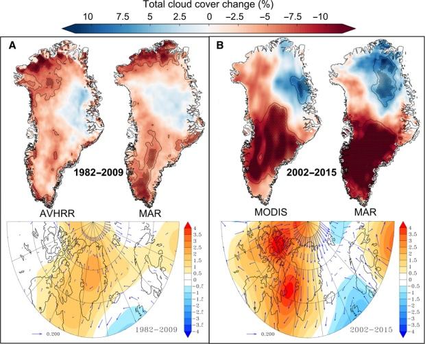 Greenland cloud cover melt