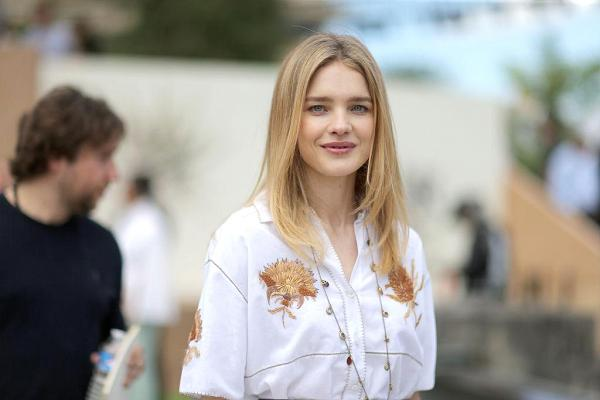 Natalia Vodianova at the Christian Dior Haute Couture show as part of Paris Fashion Week on July 3, 2017 in Paris, France.