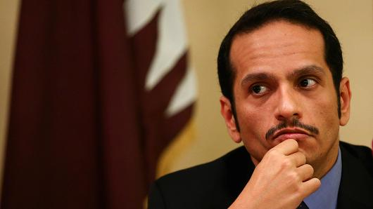 Qatari Foreign Minister Sheikh Mohammed bin Abdulrahman al-Thani attends a news conference in Rome, Italy, July 1, 2017.