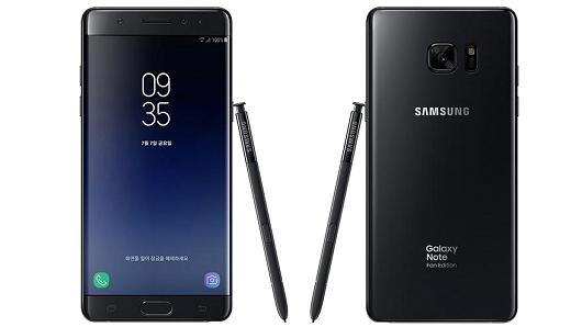 Samsung's Galaxy Note Fan Edition has features such as an iris scanner, fingerprint sensor, and stylus.