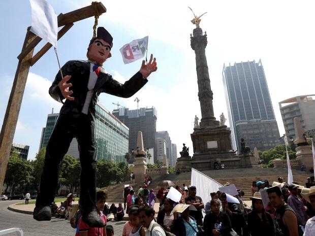 Mexico NAFTA Protest