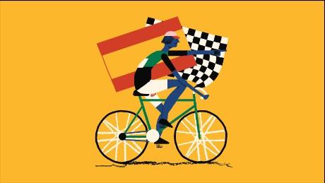 Vuelta a España illustration.