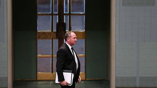 Australia's current Deputy PM and then-Minister for Agriculture Barnaby Joyce at Parliament House on June 1, 2015 in Canberra, Australia.