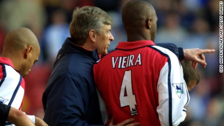 Patrick Vieira embodied the physical power of Arsene Wenger's early Arsenal teams.