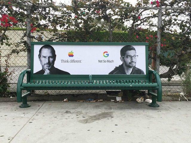 Anti-Google street art created by Sabo