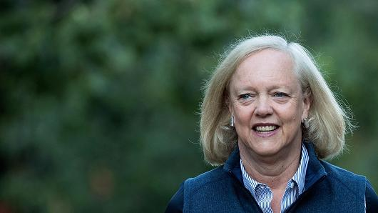 Meg Whitman, chief executive officer of Hewlett Packard (HP), on July 6, 2016.