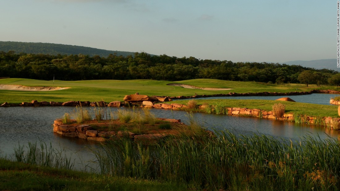 South Africa Retief Goosen designed the 18th hole.