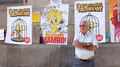 Ramon Hernández, seen in Barcelona, says the referendum is about democracy and liberty.