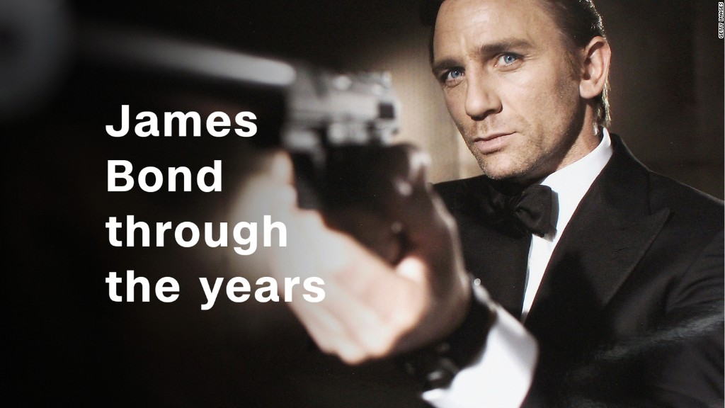 James Bond through the years