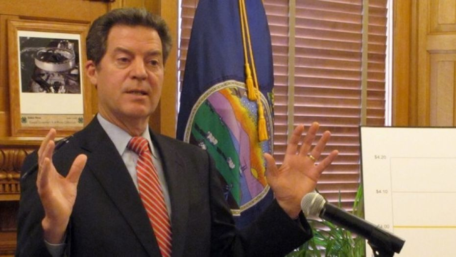 Kansas Gov. Sam Brownback, seen April 2, 2015, is expecting to step down if the U.S. Senate confirms him for an ambassadorship in the Trump administration.