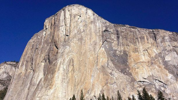 FILE - This Jan. 14, 2015 file photo shows El Capitan in Yosemite National Park, Calif. Officials at Yosemite say a chunk of rock broke off El Capitan on Wednesday, Sept. 27, 2017, along one of the world's most famously scaled routes at the height of climbing season. (AP Photo/Ben Margot, File)