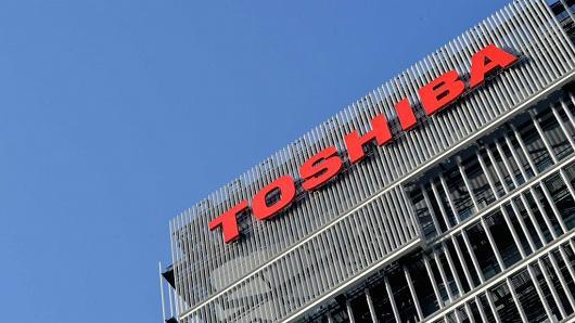 The logo of Toshiba Corp is seen at the company's facility in Kawasaki, south of Tokyo, Japan February 28, 2017.