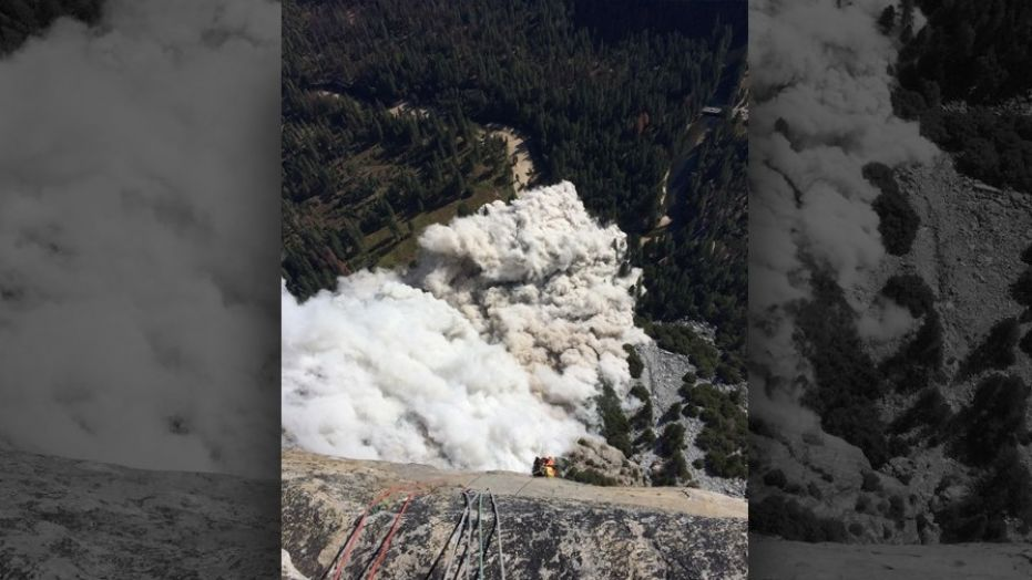 El Capitan was the scene of another rock slide on Thursday with witnesses saying it was almost three times the size of the slide from the previous day.