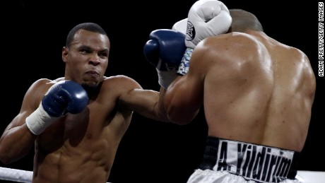 Chris Eubank Jr. competes in the World Boxing Super Series