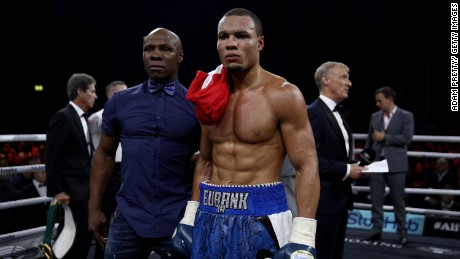 Eubank Jr. and his father after win over Avni Yildirim