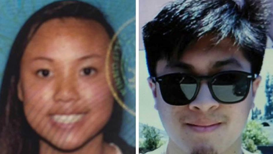 The bodies of Rachel Nguyen, left, and Joseph Orbeso were found under a tree and they appeared to have been rationing food and water.