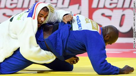 Tushishvili competes with Riner in the men's heavyweight category at the 2017 Judo World Championships.