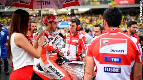 Andrea Dovizioso on the grid in Sepang, Malaysia