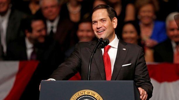 U.S. Sen. Marco Rubio (R-FL) speaks before U.S. President Donald Trump announced his Cuba policy at the Manuel Artime Theater in the Little Havana neighborhood in Miami, Florida, U.S. June 16, 2017. REUTERS/Joe Skipper - RC12FDB8EF40