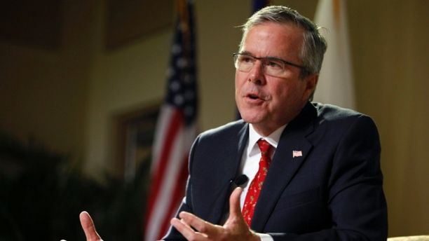 Former Florida Gov. Jeb Bush speaks during an event at the Metropolitan University in San Juan, Puerto Rico, Tuesday, April 28, 2015. The former Florida governor delivered a speech on economic opportunities partly in Spanish on Tuesday, and his audience responded with hearty applause. Bush is fluent in the language, and often uses it in Florida, but it's rarely heard in Republican presidential campaign politics. (AP Photo/Ricardo Arduengo)