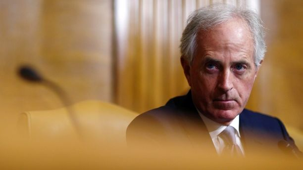 U.S. Senator Bob Corker (R-TN) attends the Senate Budget Committee markup of the FY2018 Budget reconciliation legislation on Capitol Hill in Washington, U.S., November 28, 2017.   REUTERS/Joshua Roberts - HP1EDBS1M2W29