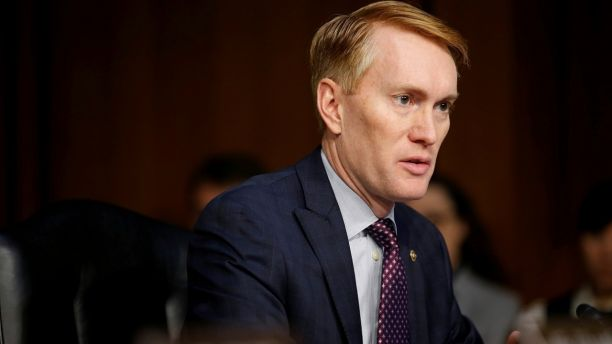 Senator James Lankford (R-OK) speaks during Senate Intelligence Committee hearing to answer questions related to Russian use of social media to influence U.S. elections, on Capitol Hill in Washington, U.S., November 1, 2017.   REUTERS/Joshua Roberts - RC176A395460