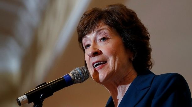 U.S. Senator Susan Collins speaks at the Penobscot Bay Regional Chamber of Commerce's Quarterly Business Breakfast in Rockport, Maine, U.S., October 13, 2017. REUTERS/Joel Page - RC1A014FF7B0