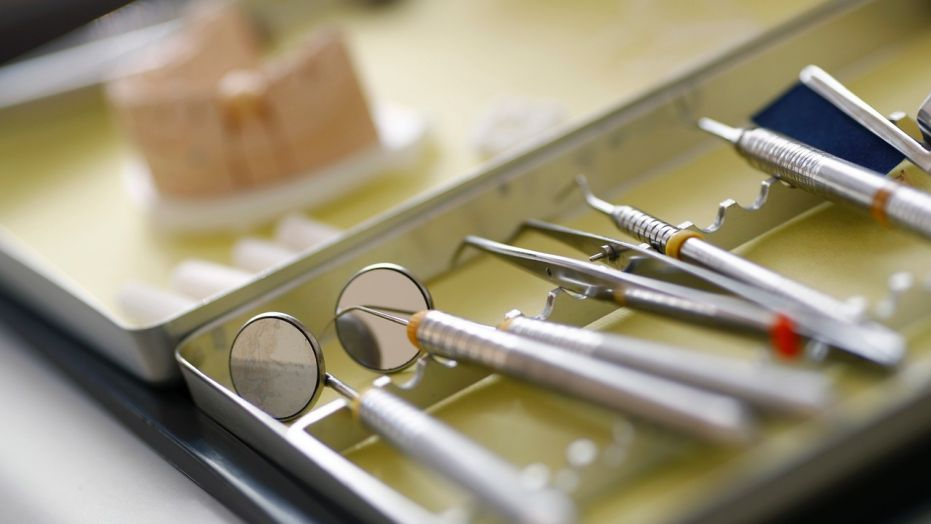Dentist tools are photographed in a surgery room, March 7, 2016.