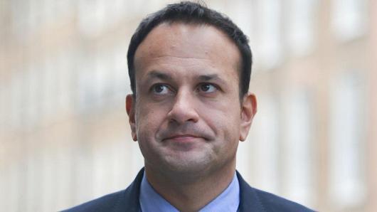 An Taoiseach and Leader of Fine Gael, Leo Varadkar, arrives at Fine Gael HQ on 5 Oct. 2017, in Dublin, Ireland.