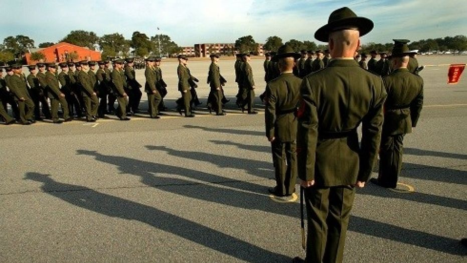 A Marine Corps drill instructor was convicted of physically abusing young recruits at the Marine Corps' Parris Island boot camp.