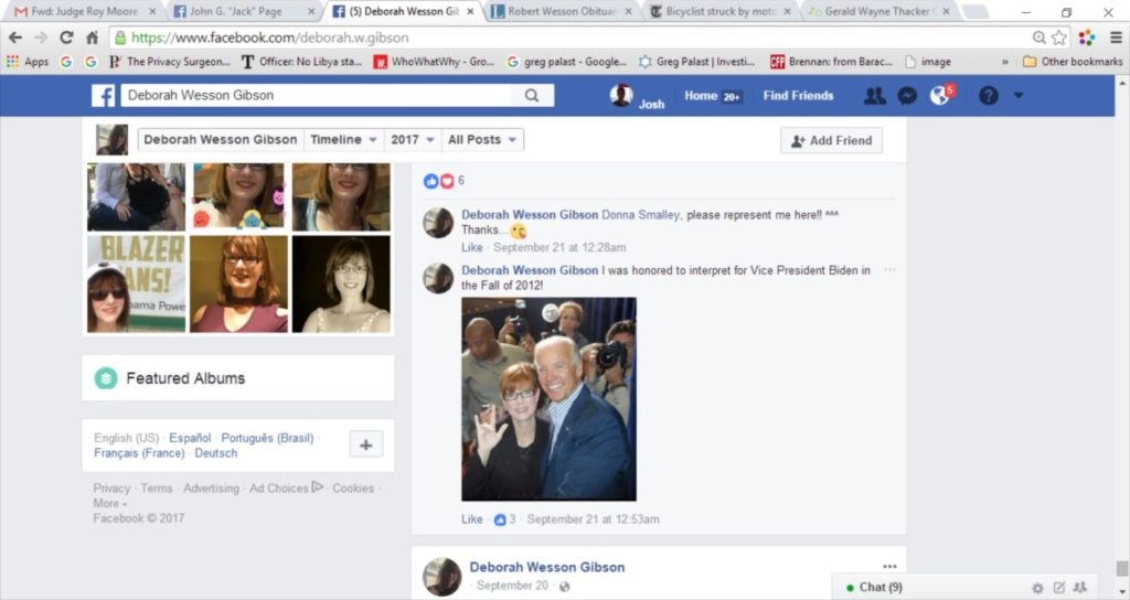 Alabama Accuser Deletes Anti-Moore Postings from Facebook