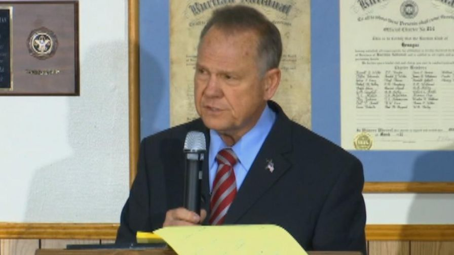 Alabama republican senate nominee speaks at campaign event in Fort Payne, Alabama.