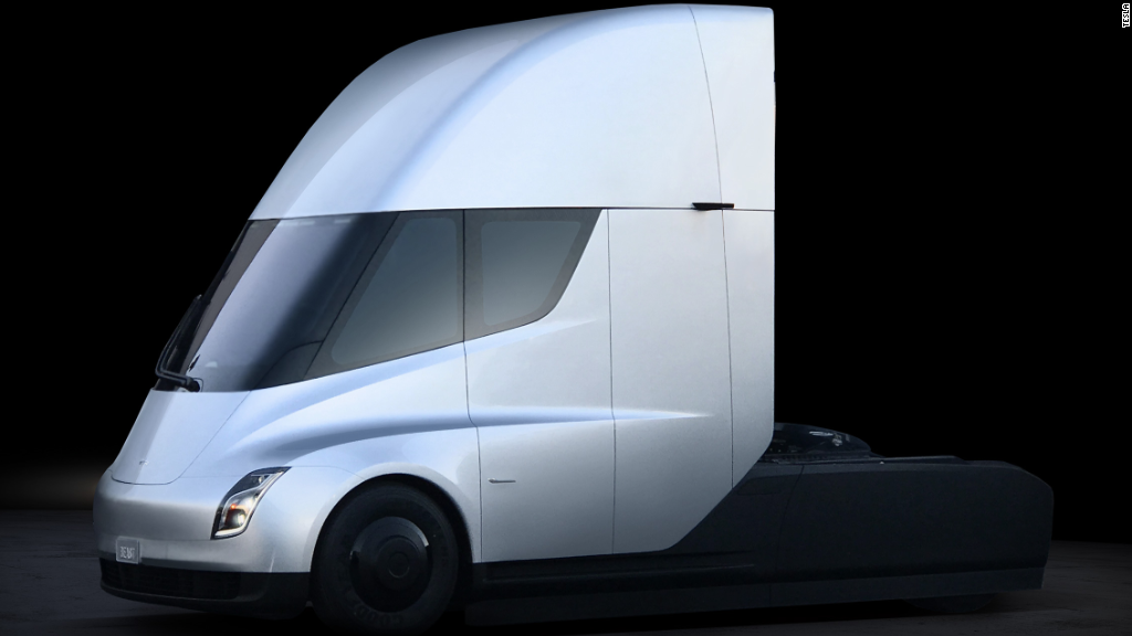 Tesla Unveils A New Electric Semi Truck