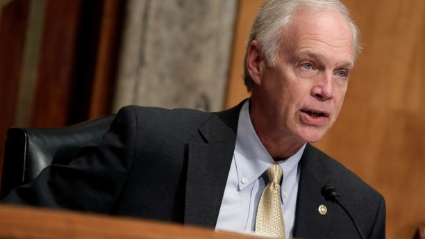 Chairman of the Senate Homeland Security and Governmental Affairs Committee Ron Johnson (D-WI) questions Kirstjen Nielsen (unseen) on her nomination to be secretary of the Department of Homeland Security (DHS) in Washington, U.S., November 8, 2017.   REUTERS/Joshua Roberts - RC12EE404750
