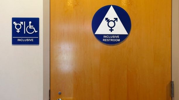 A gender-neutral bathroom is seen at the University of California, Irvine in Irvine, California September 30, 2014. The University of California will designate gender-neutral restrooms at its 10 campuses to accommodate transgender students, in a move that may be the first of its kind for a system of colleges in the United States.  REUTERS/Lucy Nicholson (UNITED STATES - Tags: EDUCATION SOCIETY POLITICS) - GM1EAA10JEQ01