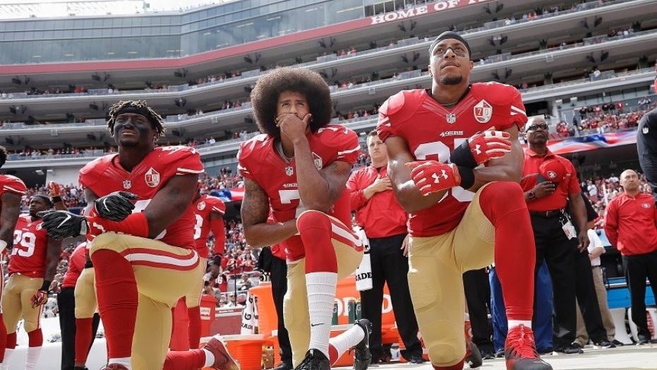 Colin Kaepernick started national anthem protests in 2016 to protest police brutality.