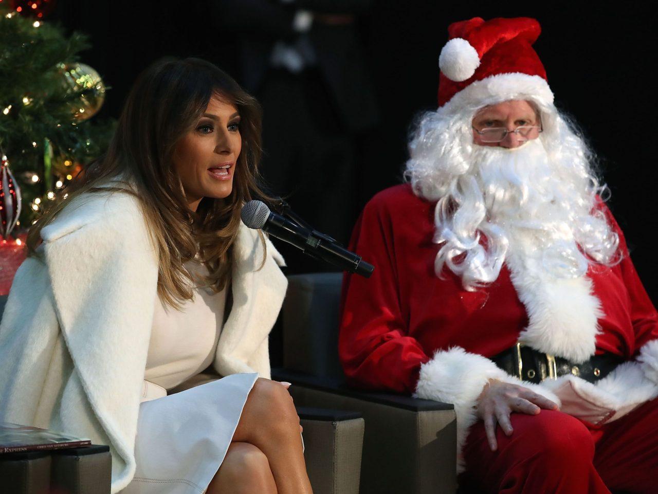 melania trump santa mark wilson getty