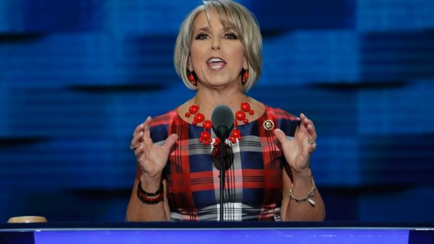 FILE - In this July 27, 2016, file photo, Rep. Michelle Lujan Grisham, D-NM., speaks during the third day of the Democratic National Convention in Philadelphia. A transgender former intern says an apology letter from her to Lujan Grisham is a fake. Riley Del Rey told The Associated Press on Tuesday, Dec. 19, 2017, she never wrote the letter and Lujan Grisham's office is circulating the bogus letter to divert attention from claims the congresswoman fired her because she is transgender.  (AP Photo/J. Scott Applewhite, File)